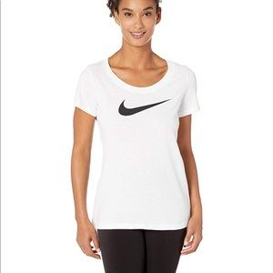 NWT Nike Dri-Fit Scoop Neck Swoosh Tee